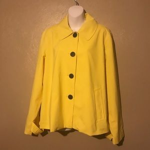 Chaps yellow jacket size XL, buttons down